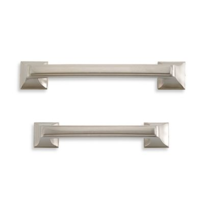 Amerock® Mulholland™ 96mm Cabinet Drawer Pull in Satin Nickel