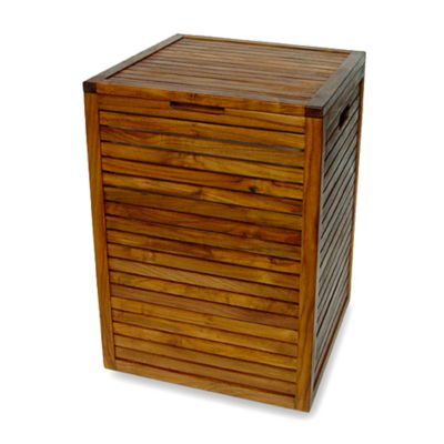 Teak Bathroom Storage