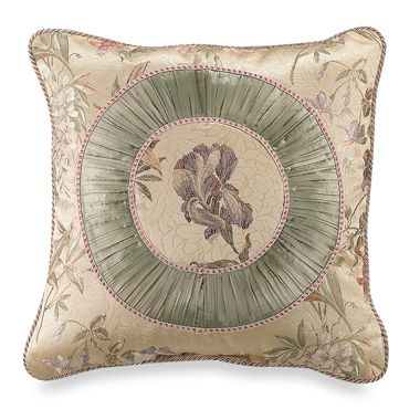 Iris 20-Inch Square Fashion Pillow