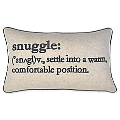 Snuggle Definition Oblong Throw Pillow In Navy by Bed Bath & Beyond
