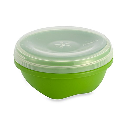 Buy preserve 19 ounce food storage container with lid for Bathroom containers with lids
