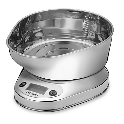 Cuisinart® PrecisionChef™ Kitchen Food Scale with Stainless Steel Bowl