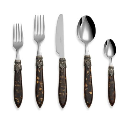 Laura 5-Piece Flatware Place Setting in Brown