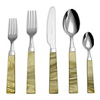 Euro Ceramica Charme 5-Piece Flatware Place Setting in Green