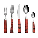 Charme 5-Piece Flatware Place Setting in Bordeaux