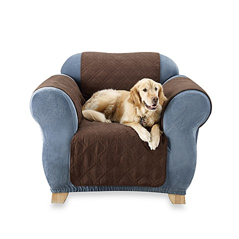 Furniture Friend Quilted Chair Pet Throw by Sure Fit® in Chocolate