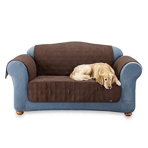 Furniture Friend Quilted Sofa Pet Throw by Sure Fit® in Chocolate