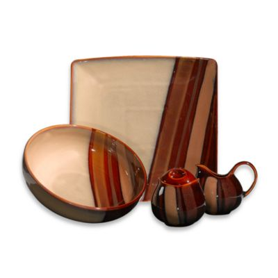 Sango Avanti Brown 5-Piece Completer Set
