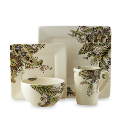 Tabletops Unlimited™ Misto Angela Square Dinnerware 4-Piece Place Setting