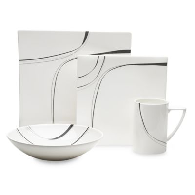 Mikasa® Modernist Black 4-Piece Place Setting