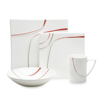 Mikasa® Modernist Red 4-Piece Place Setting