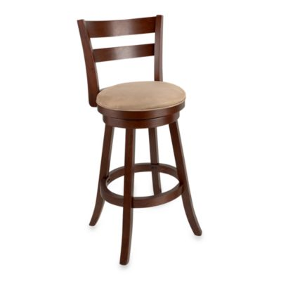 Sawyer 30-Inch Swivel Barstool in Brown Cherry