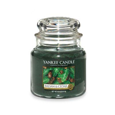 Yankee Candle® Housewarmer® Balsam and Cedar™ Medium Candle Jar