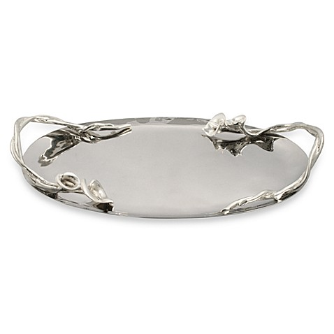 Lily Oval Metal Tray in Medium
