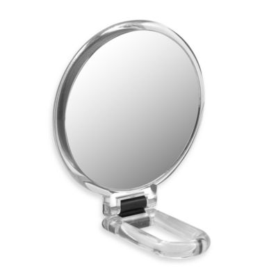 Folding Hand Held 10x Magnification Mirror