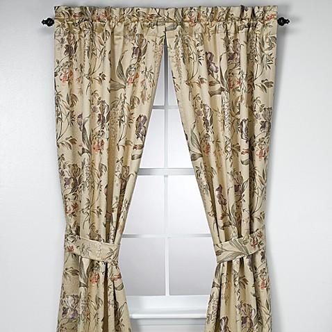 Croscill 174 84 Inch Window Curtain Panel Pair In Iris Bed