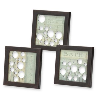 Mirrored Bath Bubbles Wall Art (Set of 3)