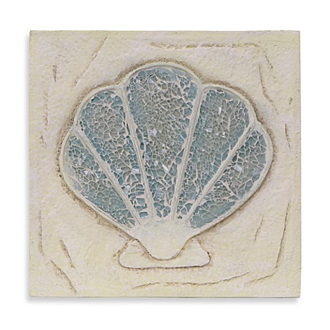 Scallop Shell Resin Wall Plaque