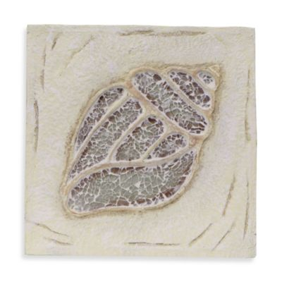 Conch Shell Resin Wall Plaque