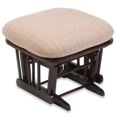 Dutailier® Wood Ottoman in Matrix Peeble Fabric/Cherry Wood