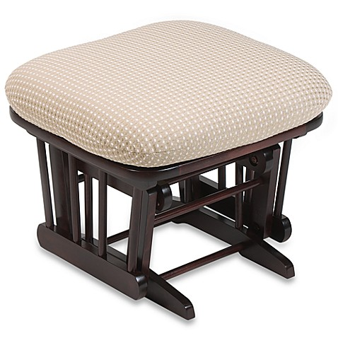 Dutailier® Ottoman in Joseph Beige Fabric/Cherry Wood