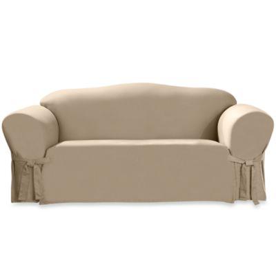 Sure Fit® Duck Supreme Cotton Sofa Slipcover in Linen