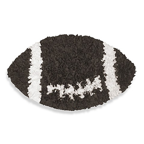 Shaggy Raggy Round Football Rug