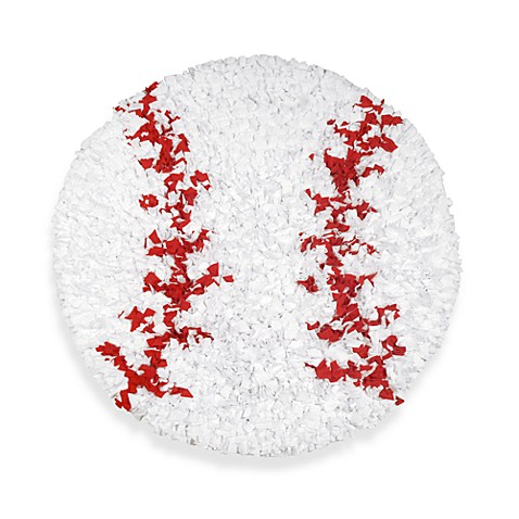 Buy shaggy raggy round baseball rug from bed bath amp beyond