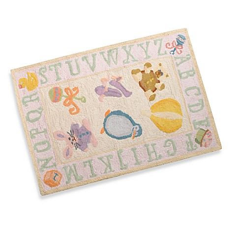 Momeni Lil Mo Storytime Accent Rug in Soft Pink