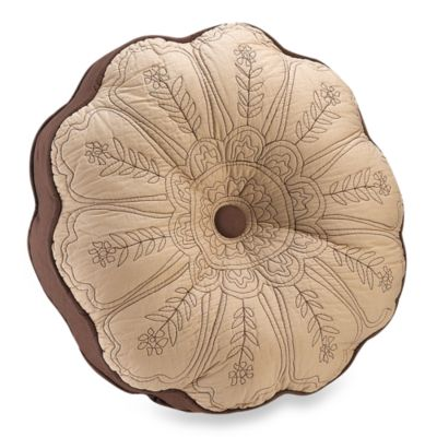 Vallejo Chocolate 15-Inch Round Toss Pillow