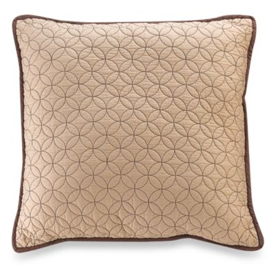 Vallejo Chocolate 18-Inch Square Toss Pillow