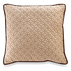 Vallejo 18-Inch Square Throw Pillow in Chocolate