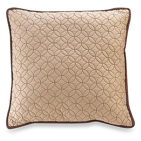Vallejo 18-Inch Square Throw Pillow in Chocolate - Bed Bath & Beyond