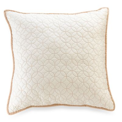 Vallejo Ivory 18-Inch Square Toss Pillow