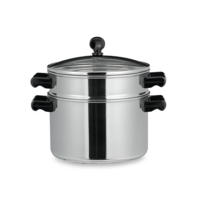 Farberware® Classic Series II Stainless Steel Stack & Steam 3-Quart Sauce Pot and Steamer Insert