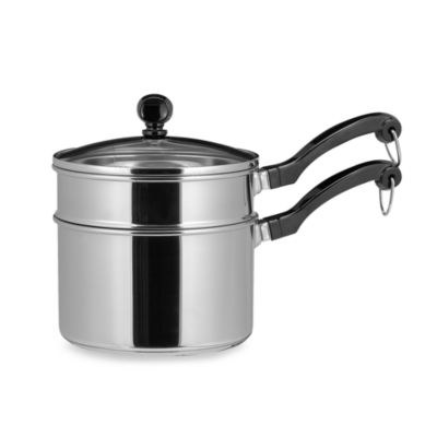 Farberware® Classic Series II Stainless Steel 2-Quart Covered Sauce Pan and Double Boiler Insert
