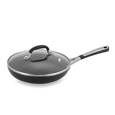 Simply Calphalon® Black Enamel Nonstick 8-Inch Covered Omelette Pan