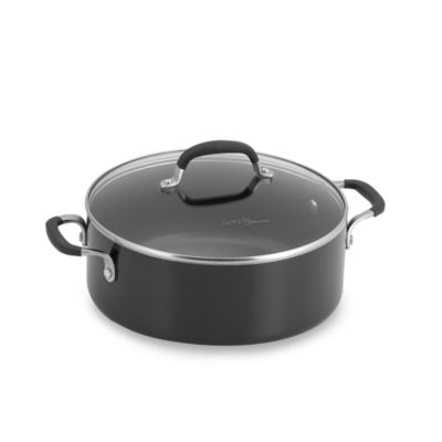 Simply Calphalon® Black Enamel Nonstick 5-Quart Covered Chili Pot