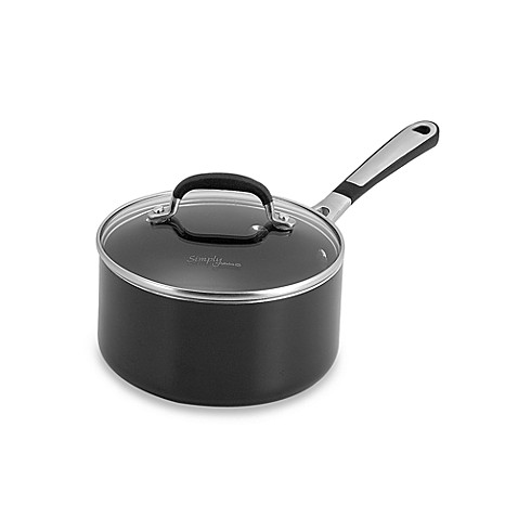Simply Calphalon® Black Enamel Nonstick 2-Quart Covered Saucepan