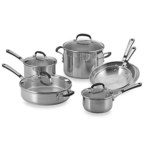 Simply Calphalon® Stainless Steel 10-Piece Cookware Set