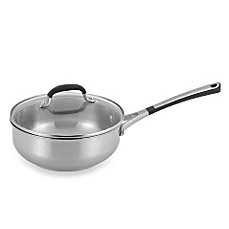 Simply Calphalon® Stainless Steel 2-Quart Covered Chef's Pan