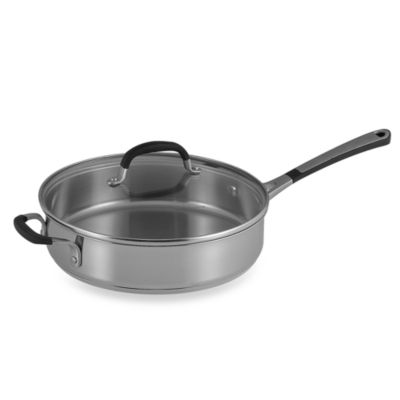 Simply Calphalon® Stainless Steel 3-Quart Covered Saute Pan