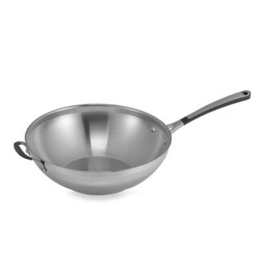 Simply Calphalon® Stainless Steel 12-Inch Stir Fry Pan
