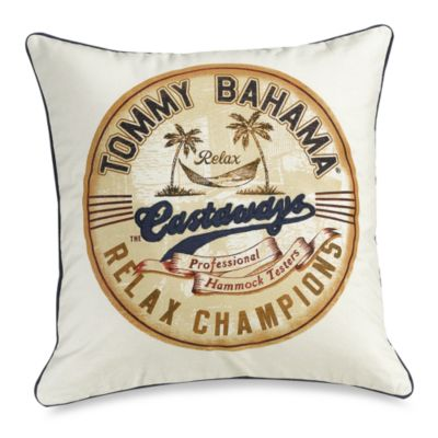 Orange Cay Castaways Toss Pillow
