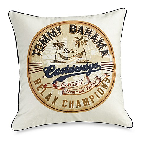 Tommy Bahama® Orange Cay Castaways Toss Pillow