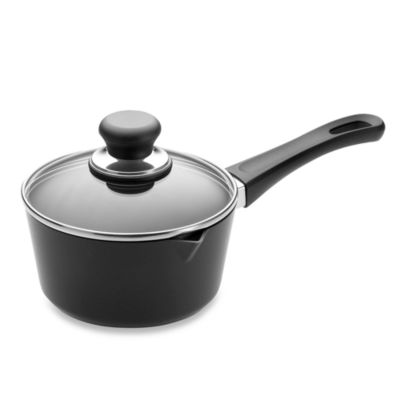 Scanpan® Classic Non-Stick Ceramic Titanium 1-Quart Covered Sauce Pan with Spout