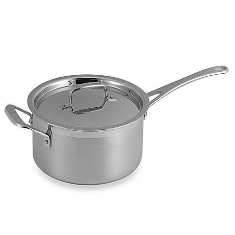 buy le creuset stainless steel 4 quart saucepan from bed. Black Bedroom Furniture Sets. Home Design Ideas