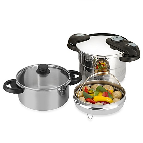 Fagor Futuro 5-Piece Stainless Steel Pressure Cooker Set