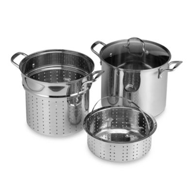 Denmark® Stainless Steel 12-Quart 4-Piece Multi-Cooker Set