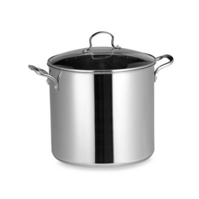 Stainless Steel 16-Quart Covered Stock Pot